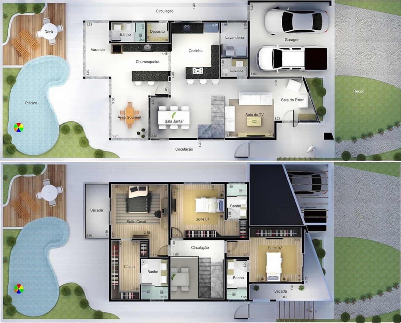 Plantas De Casas Com 2 Quartos E Cozinha Americana E Garagem Cheap