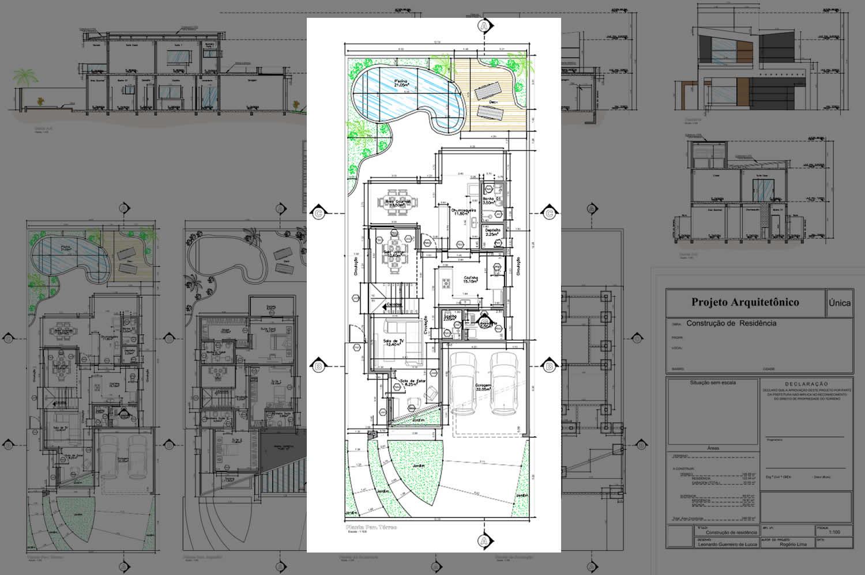 Planta De Casa Com Cozinha No Fundo Projetos De Casas Modelos De