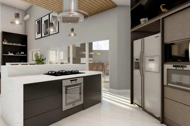 Projeto de casa térrea de alto padrão
