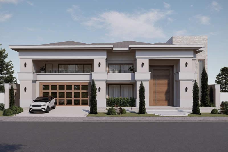 Projeto de mansão neoclássica