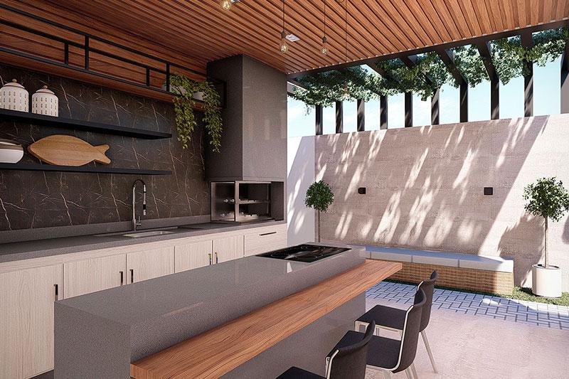 Projeto de casa térrea com 3 suítes