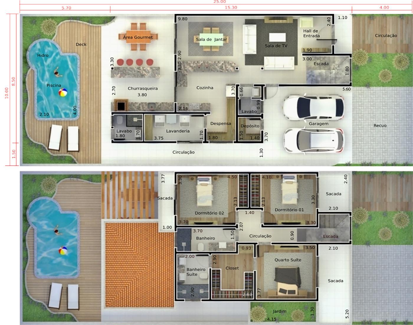 Planta De Casa Com Telhado Duas Guas Projetos De Casas Modelos