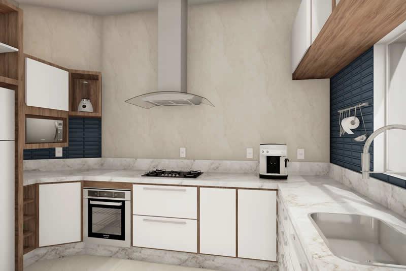Cozinha com bancada grande