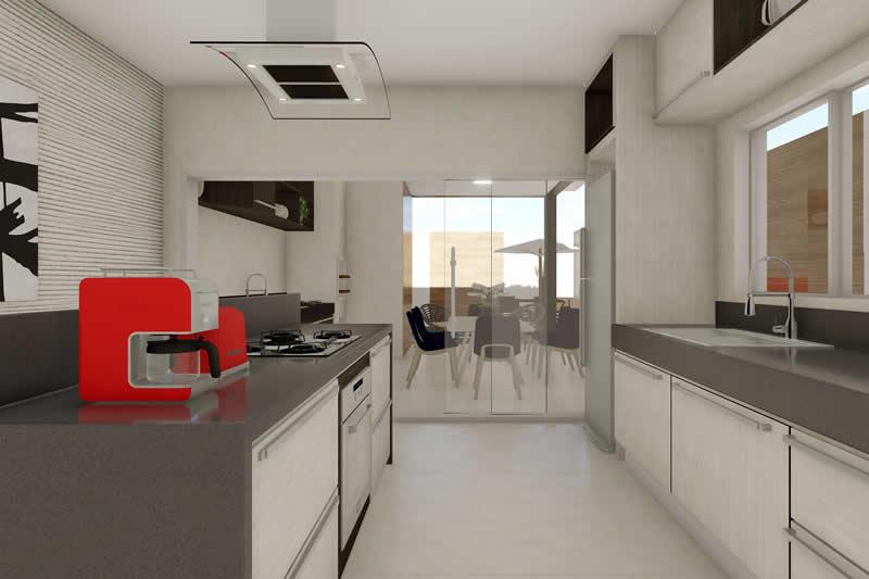 Cozinha planejada e integrada