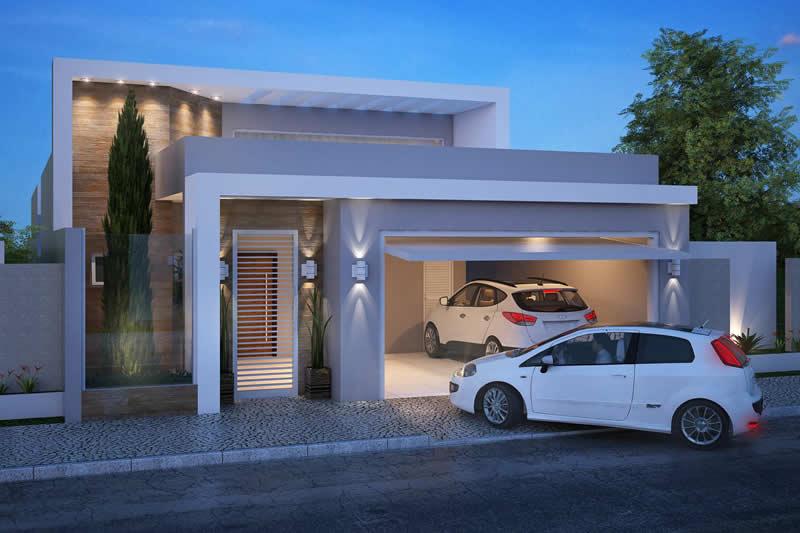 Residência com garagem