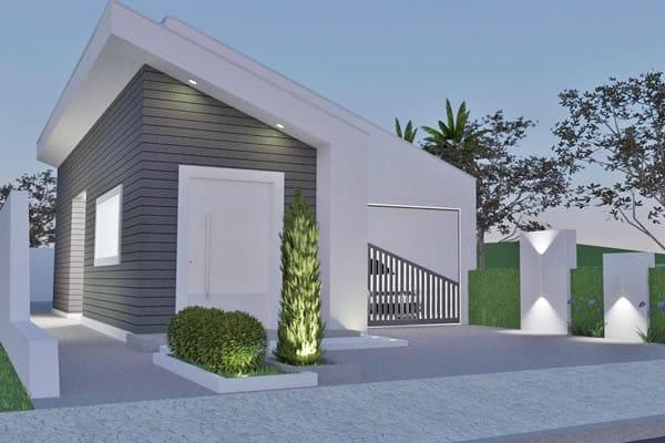 Planta de casa térrea c/ 2 dormitórios