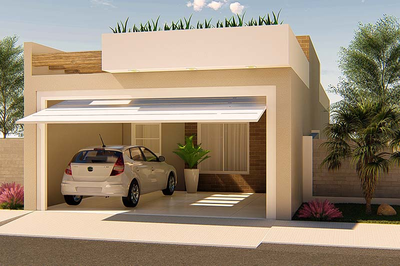Planta de casa para investimento