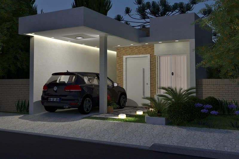 Planta de casa pequena projetos de casas modelos de for Casas modernas de 8x15