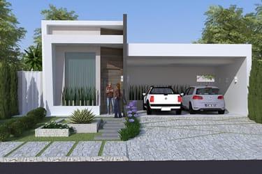 Planta de casa com piscina e hidro