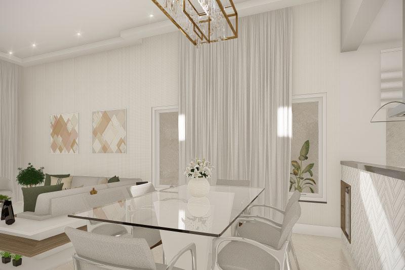 Sala de Jantar com lustre