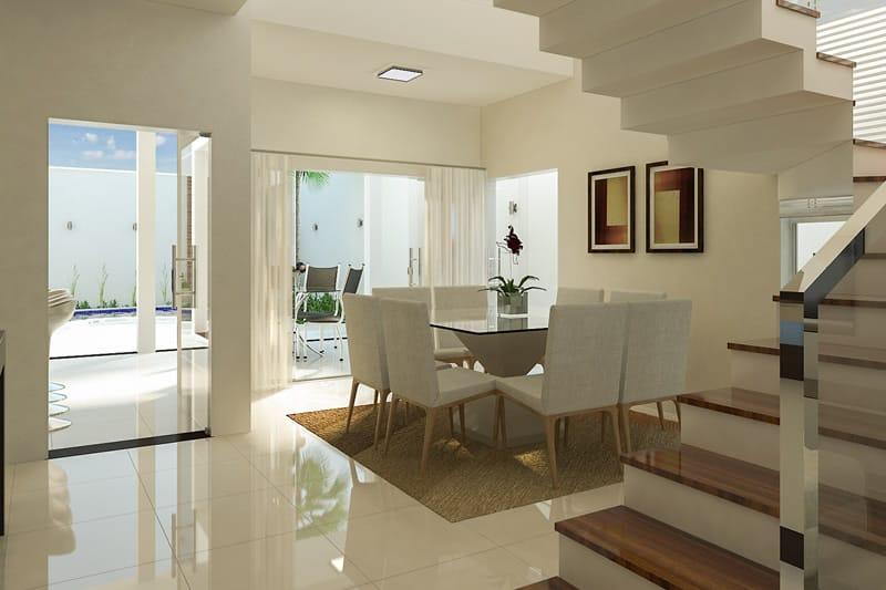 Sala de jantar ampla
