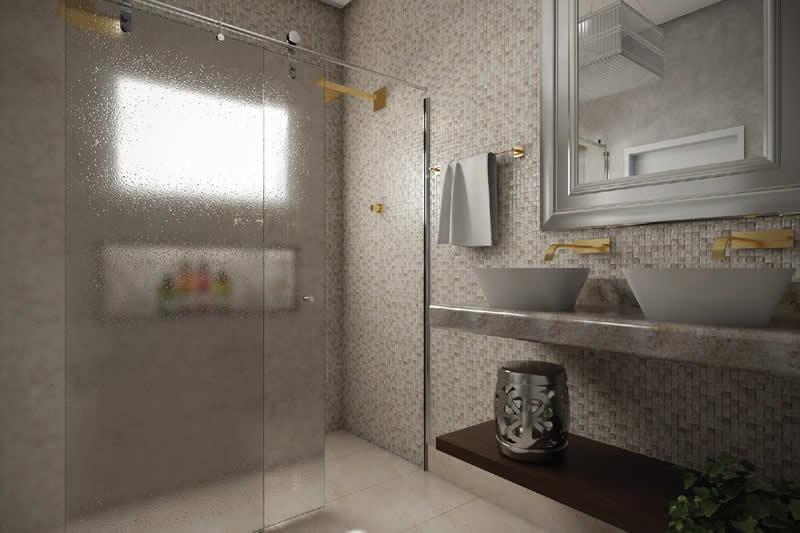 Banheiro moderno com pastilha
