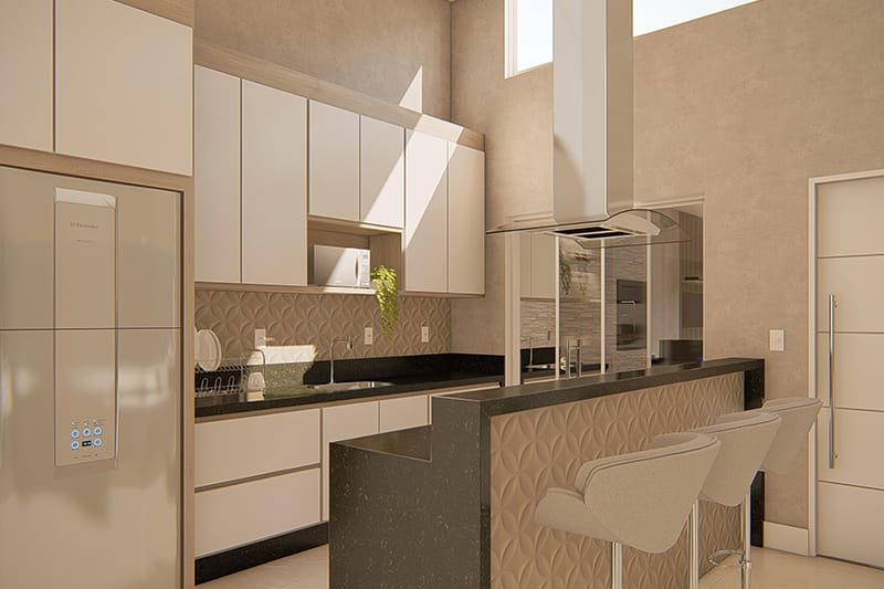 Cozinha moderna compacta