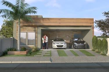 Planta de casa para condomínio