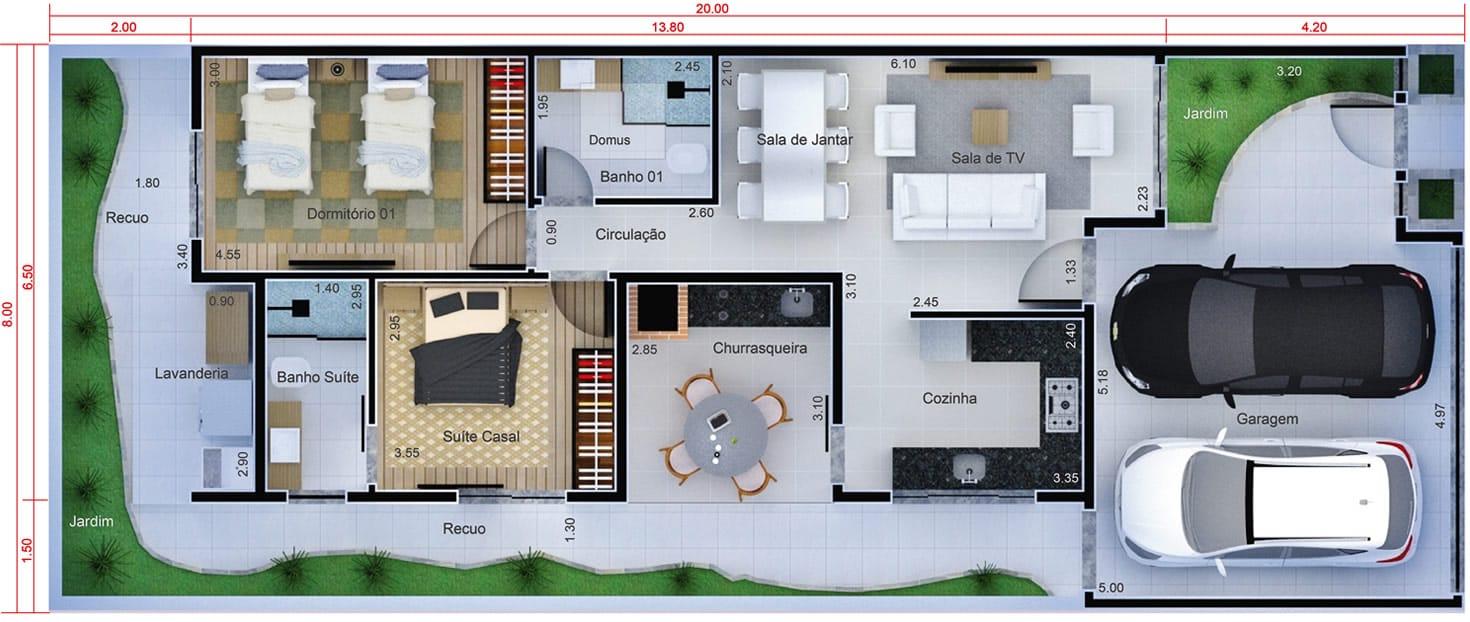 Planta De Casa Com Cozinha Na Frente Projetos De Casas Modelos De