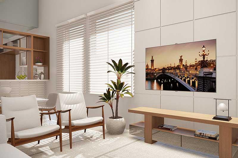 Sala de TV compacta