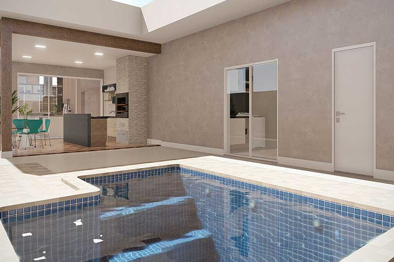 Modelo de piscina pequena