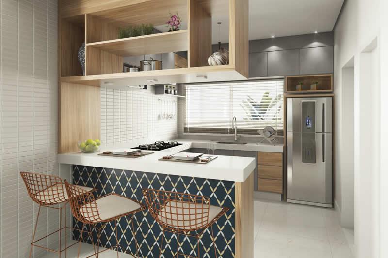Cozinha pequena moderna