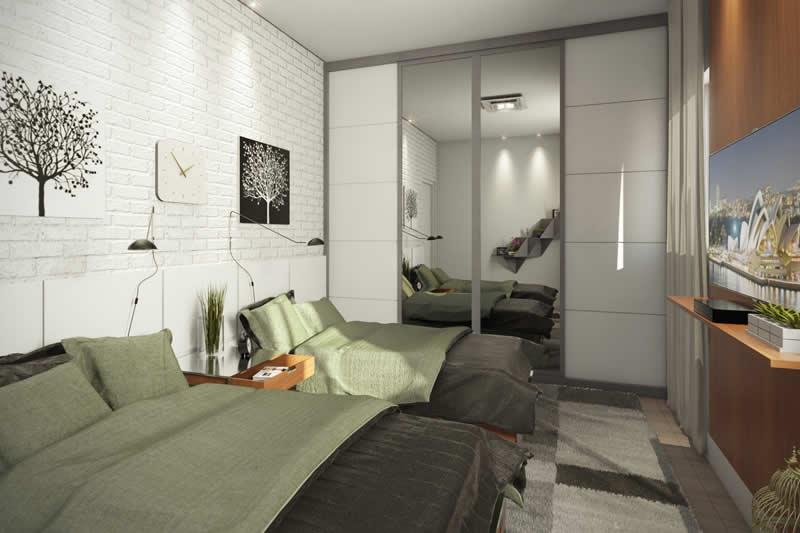 Dormitório duplo